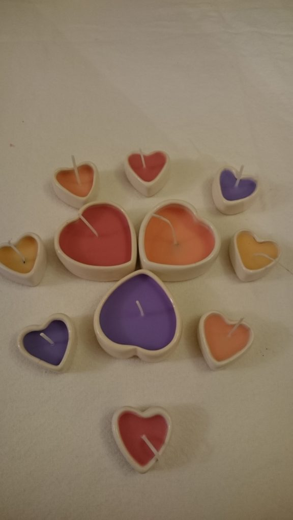 Hand Poured Candle - Design Your Own - Container Candle - Hearts
